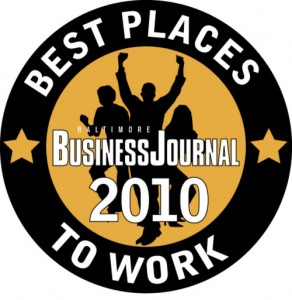 Baltimore Business Journals Best Places To Work 2010