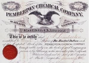 Coca-Cola's Original Stock Certificate