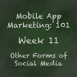 Mobile App Marketing Tip - Social Media