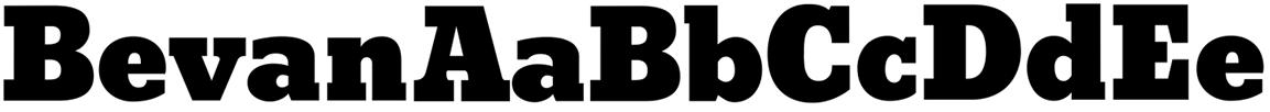 bevan web font sample
