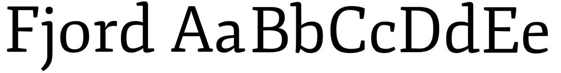 fjord web font sample