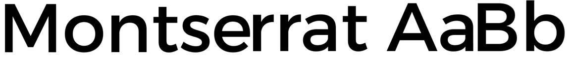 montserrat web font sample